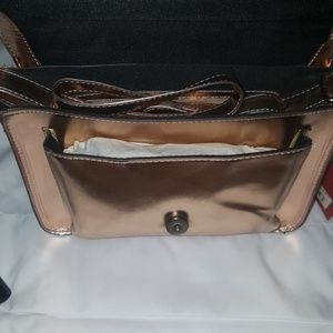 Mossimo Supply Co. Bags - Mossimo passenger satchel bronze/rose small purse
